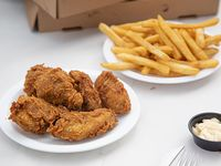 Combo - Caribbean wings 6 piezas de alas + papas fritas
