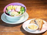 Ensalada de manzana y jamón