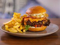 Burger gold cheddar