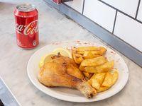 Promo - 1/4 pollo al horno + papas fritas + lata de Pepsi 354 ml