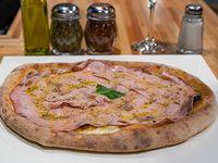 Pizza con pistacchio
