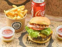 Promo - Burger classic Memphis x2 + papas fritas +  bebida 350 ml