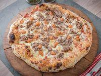 Pizza mechada de pura madre