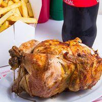 Promo - Pollo entero + papas fritas familiares + bebida 1.5 L