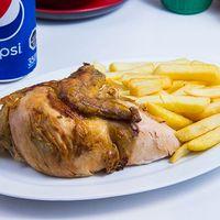 Promo - 1/4 pollo + papas fritas + bebida en lata