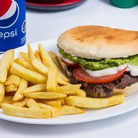 Promo - Combo sándwich + bebida en lata + papas chicas