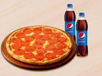 Pizza Original de la casa Mediana + 2 Gaseosas