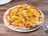 Pizzeta cheddar y Panceta