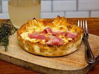 Tarta de cebolla y panceta