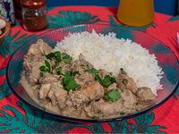 Curry indio blanco del sur de india