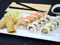 Full salmón 15 piezas + 2 arrolladitos