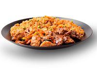 Wok Box 6 Carne Teriyaki/ Pollo Con Vegetales y Champiñones