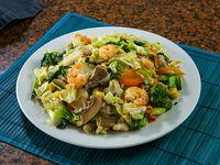 Chow Mein (vegetales con fideos) A la Marco Polo