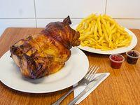 Promoción - Pollo entero asado + Papas fritas