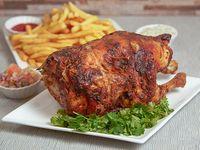 Promoción - Pollo entero + Papas fritas + Bebida 1.5 L