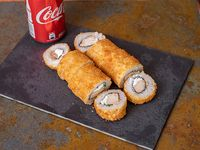 Roll Sushi Caliente de Pollo + Bebida lata 350 ml