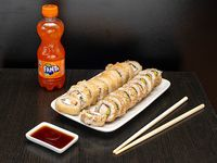 111 Almuerzo 1 - California kani y Tori tempura + bebida 220 ml