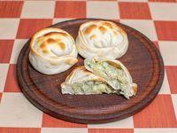 Empanada de queso roquefort y cebolla