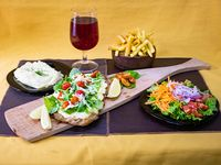 Milanesa rúcula y queso