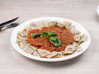 Ravioles de verdura filetto salsa a elección