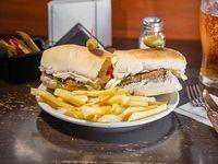 Sándwich de milanesa común