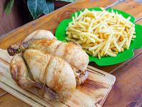 Promoción - Pollo al spiedo + papas fritas