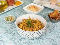 Porción individual de arroz árabe