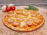 Pizza Salchicha Alemana y Mostaza