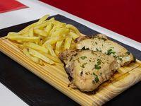 Muslitos de pollo con papas fritas (2 unidades)