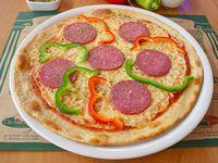 Pizza italiana individual a la piedra (delgada)