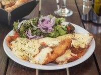 MIlanesa de pollo a la napolitana