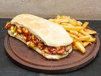 Sándwich mostaza bacon
