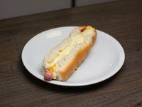 Super pancho con queso