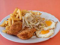 Filete de pollo crunch a lo pobre