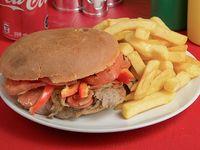 Promo - Sándwich español + papas fritas + bebida 350 ml