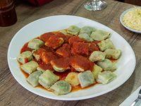 Ravioles de verdura y pollo