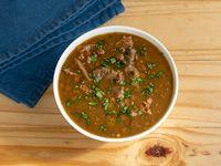 Sopa de lentejas con carne