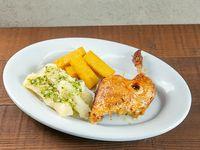 Combo - 1/4 de pollo + soda en lata 355 ml + polenta + acompañamiento