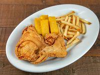 Combo - 2 piezas de pollo + soda en lata 355 ml + polenta + acompañamiento