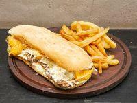 Sándwich cinco quesos