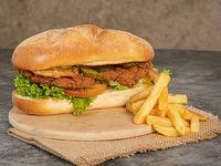 Breaded Pig Sub + Papas Francesa