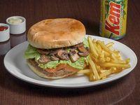 Promoción - Sándwich Rey Arturo + Papas fritas + Bebida en lata 350 ml