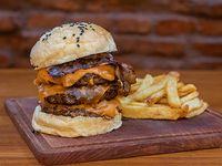 Combo triple burger