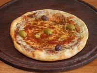 Pizza muzzarella (4 porciones)
