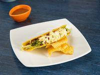 Taco con Chile y Carne