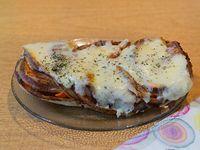 Sándwich caliente de matambre y muzzarella