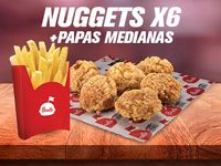 Nuggets x6 + Papa a la Francesa