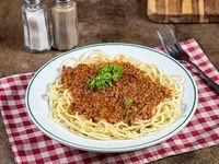 Spaghettis con lomo