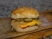 Hamburguesa de chorizo cheese