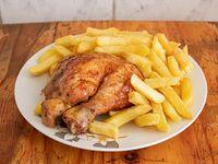 Colación - 1/4 pollo con papas fritas